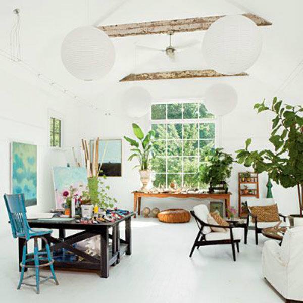 Artist's home studio