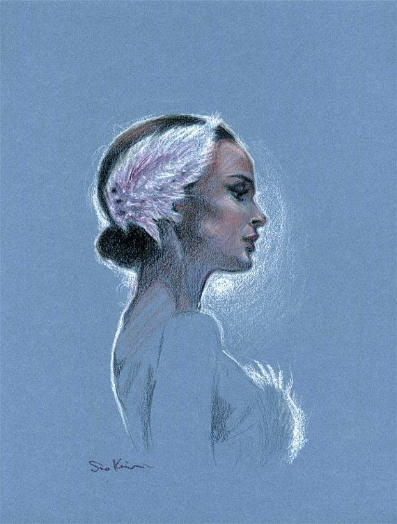 Natalie Portman Black Swan.Etsy shop sookimstudio